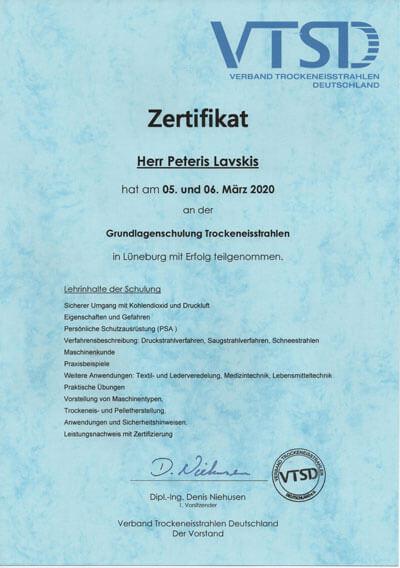 VTSD Zertifiziertes Unternehmen